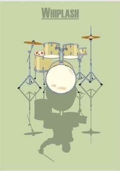 Whiplash (2014) ~ Minimal Movie Poster by David Peacock #amusementphile