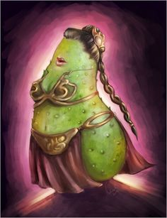 Star Wars: Fruits and Vegetables - Leia Orguanabana by Nela Krzewniak