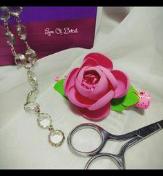 """Купить Зажим для волос с цветком """"Розовая мечта"""" - заколка для волос, зажим для волос, зажим с цветком"""