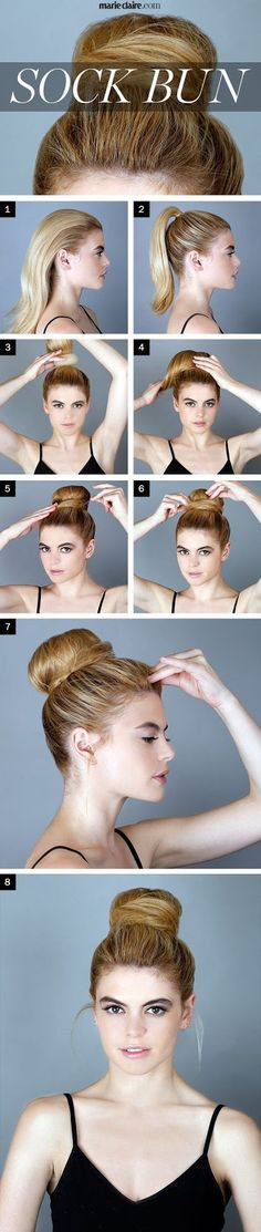 Calgary, Edmonton, Montreal, Vancouver, Toronto, Ottawa, Winnipeg, AB: How To Make A Messy Bun With Long Straight Hair