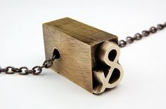 Charming letter press necklace!