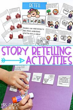 Practice story retelling with these retell cards for a variety of great books! Differentiated story cards available for K-2. You and your students will love these fun and engaging story retell activities. #readingcomprehension #engagingreaders #storyretellactivities