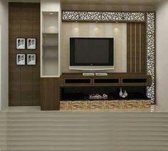 Wall Unit Designs, Living Room Tv Unit Designs, Tv Wall Design, Tv Unit Furniture Design, Tv Unit Interior Design, Room Interior, Tv Cabinet Design Modern, Tv Furniture, Cheap Furniture