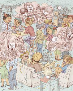 Les illustrations surréalistes de Yurex Omazkin