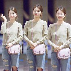 """""""Suzy today at the airport.♥ _ _ _ _ _ @skuukzky #skuukzky #suzy #suji…"""