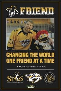 Bee A Friend Poster, Colin Wilson, Nashville Predators, Photo by Forest Home Media