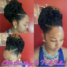 Pin by African American Hairstyles on Natural Hair Style Braids My Hairstyle, Girl Hairstyles, Braided Hairstyles, American Hairstyles, Natural Hair Updo, Natural Hair Styles, Twisted Hair, Goddess Braids, Braided Updo