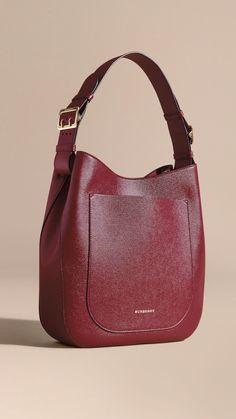 Textured Leather Shoulder Bag Dark Plum  8280c60f08492