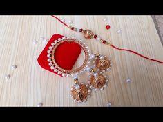 Handmade Rakhi Designs, Handmade Jewelry Designs, Rakhi Making, Quilling Earrings, Raksha Bandhan, Craft Corner, News Design, Bangles, Make It Yourself