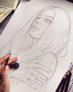 "Artist Polina on Instagram: ""For watercolor🐦 . Fabriano Watercolor 300g . . . . . .#arts_promoter #commissionedportrait #художникиваново #скетч #портретпофото #иваново…"" Portrait Drawing Tips, Drawing Skills, Watercolor Paper, Pop Art, My Arts, Sketches, Kawaii, Drawings, Pencil"