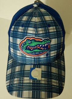 0d1bdbe52 Florida Gators Football Hat Baseball Cap New w/ Tags Adjustable UF Blue  Plaid