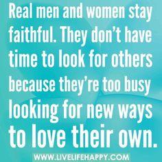 Staying faithful.