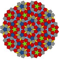 A P1 tiling using Penrose's original set of six prototiles