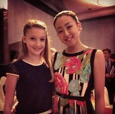 Maria Sotskova (2nd place junior ladies) and Mao Asada (6th place senior ladies) at the 2025 Grand Prix final
