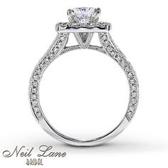 THIS IS THE ONE!!!! Side view of the Neil Lane engagement ring that I want!    Kay - Neil Lane Engagement Ring 2 ct tw Diamonds 14K White Gold