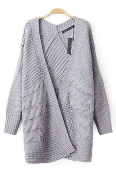 Grey Long Sleeves Sweater