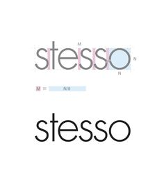 Measuring system & spacing for text based logo.