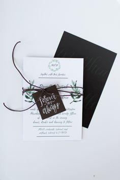 Danielle and Matt's Wedding Invitation Suite — Eleven + West