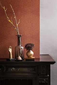 From #romantic and #soft watercolors to dark designs with accents of #gold, ocher and copper. #Powerful shapes and subtle #textures are merged into an exciting #wallpaper.