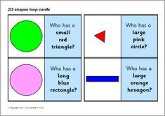 2D shapes loop cards (SB5082) - SparkleBox