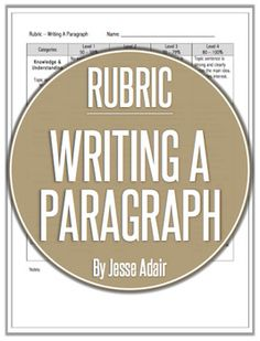 Rubric: A ParagraphThis rubric outlines specific expectations about writing a paragraph assignment. Grading rubrics can be of great benefit to both you and your students. For you, a rubric saves time and decreases subjectivity. Specific criteria are explicitly stated, facilitating the grading process and increasing your objectivity.