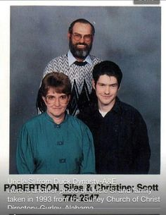 Duck Dynasty - Old pic of Uncle Si and his wife from a church directory