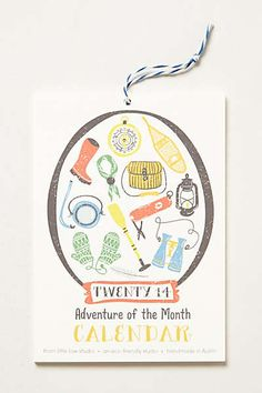 Anthropologie - Month By Month 2014 Calendar
