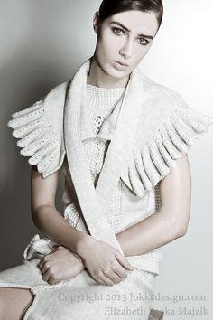 Black & White knitwear collection Elizabeth Zsoka Majzik by JOKKAdesign 100%Wool