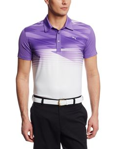 Engineered for performance this mens NA Indigital golf polo shirt by Puma also offers a little pizzazz and that fun guy look