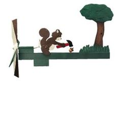 Squirrel Whirligig Plan It looks like Mr. Squirrel has found an easier way to crack nuts. This whimsical whirligig is sure to draw smiles and will look great in your yard or garden. Make this fun whir