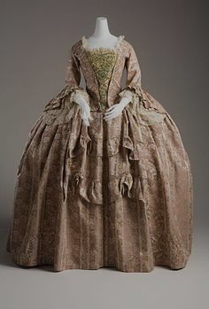 18th century wedding dresses... Oh so thankful times have changed to white.