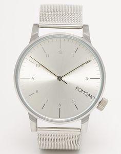 Komono Winston Royale Silver Mesh Watch