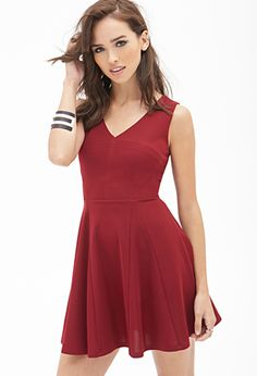Classic Fit & Flare Dress | FOREVER21 - 2000138217
