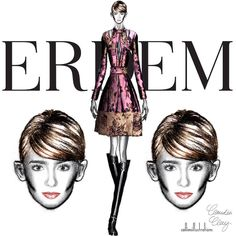 @collinsillustrations sur Instagram : ERDEM FALL '15 I put the muse, @lilyjcollins in fall 2015 @erdemlondon: Look 1. illustration by yours truly @claudiacloudyah - disclaimer: I don't own the design or company logo