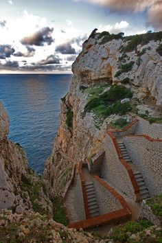 Scalinata del Cabirol in Alghero, Sardinia, Italy Book here:  http://www.aicgroup.biz/booking/index.php?country=Italy&city_code=AHO&city=Alghero