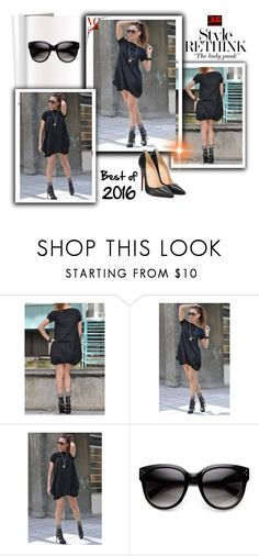 """""""Black Dress by EUGfashion"""" by umay-cdxc ❤ liked on Polyvore featuring Christian Louboutin and EUGfashion"""