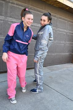 1980's Deadstock Converse Navy & Pink Tracksuit