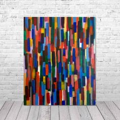 """Artist: Dermot Daly Titled: """"Line Out Part of my ApexTab Collection. Inspiration: The vibrant colors reflect the excitement of modern life. Size: X Inches X Thickness canvas (frame) screen: Canvas Frame, Line, Reflection, Vibrant Colors, Abstract Art, Artist, Modern, Painting, Inspiration"""