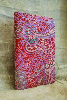 Bahai prayer book cover, Crimson Tide, Chinese silk book cover, Bahai gift by elikamahony on Etsy