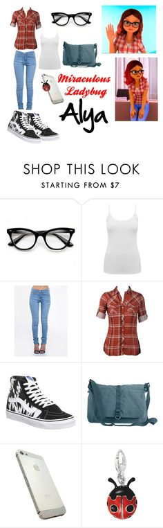 """""""Miraculous Ladybug Cosplay: Alya"""" by psychedpolkadot ❤ liked on Polyvore featuring M&Co, ZooShoo, Vans and High Road"""