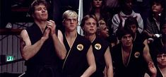 The Karate Kid #thekaratekid The Karate Kid 1984, Karate Kid Movie, Karate Kid Cobra Kai, William Zabka, Cobra Kai Dojo, 1980s Films, Ralph Macchio, Kid Memes, Girl Falling