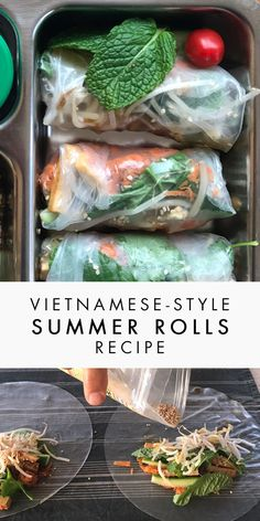Our kids favourite lunch! Make those Vietnamese-style summer rolls at home, they're healthy, delicious, and beautiful :) There's even a tip to prevent them from sticking to the lunch container. Yum!