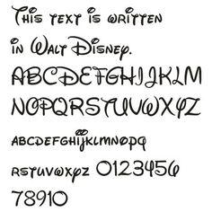 alphabet disney font - Buscar con Google