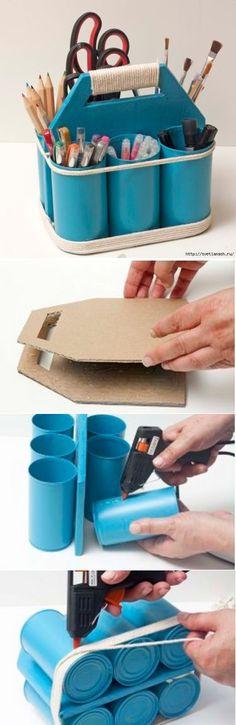 DIY art supply caddy