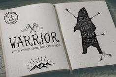 Warrior - Hand Drawn Typeface by Ian Barnard on @creativemarket