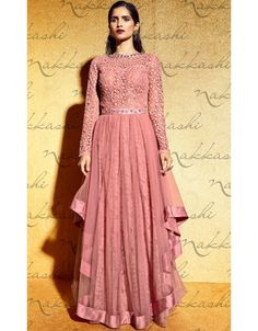Beauteous Dusty Pink Designer Anarkali Suit