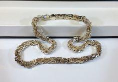 Vintage Halsschmuck - Königskette Halskette Silber 925er massiv SK514 - ein Designerstück von Atelier-Regina bei DaWanda