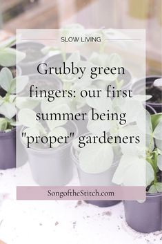 The simple pleasure of planting green things in dark earth and watching them grow. Read more at SongoftheStitch.com