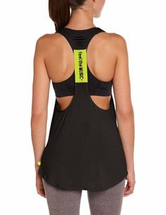 Amazon.com  Zumba Fitness Women s Cut Me Loose Racerback Top  Clothing f10d6b4743