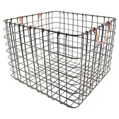 The Threshold wire milk crate is an ideal solution for your storage needs. The crate measures 14'' X 13'' X 11''H. Perfect storage for your kitchen, bathroom, office, closet; just about anywhere you need to add a little storage you can add this crate. <br><br>14'' X 13'' X 11''H<br>Made of Metal Wire<br>Wipe Clean with a Damp Cloth